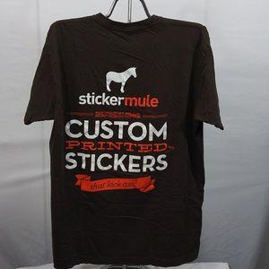 Sticker Mule American Apparel Size Large